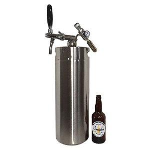 Kit Growler (barril) em inox com capacidade 10L
