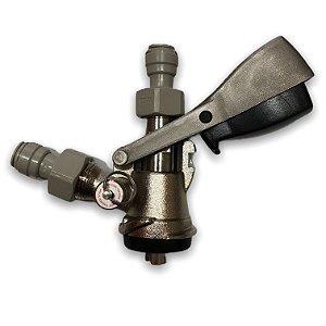 Extratora tipo S, sistema de travamento botão, válvula de alivio c/engate rápido