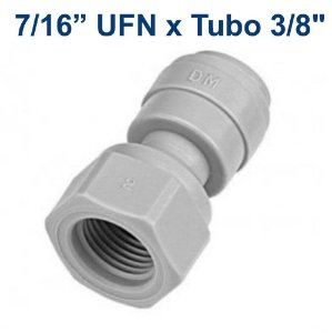 "DMFIT - Conexao rapida rosca femea 7/16-20UNF(V) x tubo 3/8"""