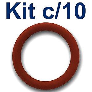 Vedacao (o ring) 1/2 Pol. de Silicone Kit com 10