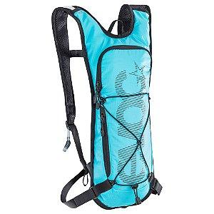Mochila Cc 3 Litros + Bolsa de Hidratação 2 Litros Azul Neon