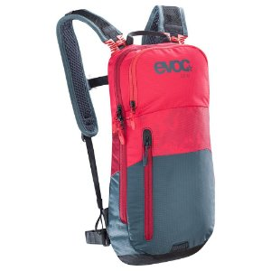 Mochila Cc 6 Litros + Bolsa de Hidratação 2 Litros Vermelho com Cinza