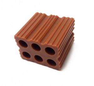 Mini tijolinho plastico - 25 unidades