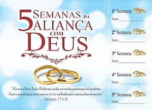 Cartela 5 Semanas da Aliança com Deus - 50 un