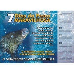 Cartela 7 Dias da Pesca Maravilhosa - 50 un