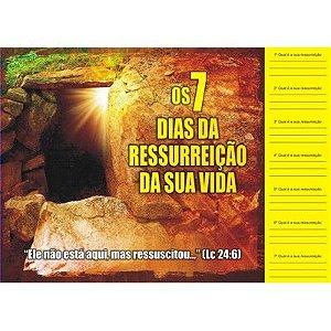 Cartela Os 7 Dias da Ressurreição da Sua Vida - 50 un