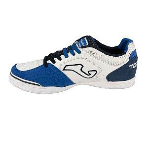 Tênis de Futsal Joma Top Flex 720 Indoor- Branco|Azul