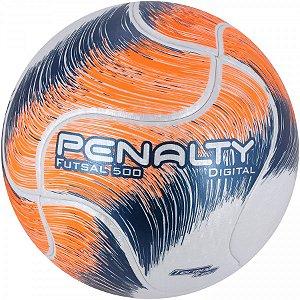 Bola Futsal Penalty Digital 500 Termotec  - Branco e Laranja