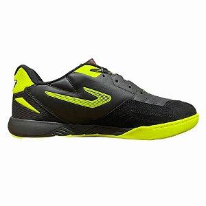 Tenis de Futsal Topper Dominator Pro III  Preto / AMARELO NEON