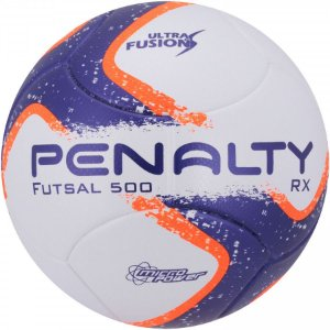 Bola Futsal Penalty RX  -  Azul e Laranja