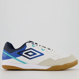 Tenis de Futsal Umbro Pró V Club - Branco / Azul
