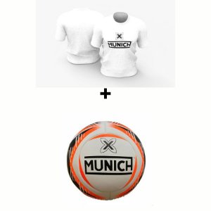Kit Camiseta Munich  + Bola Munich - Branco