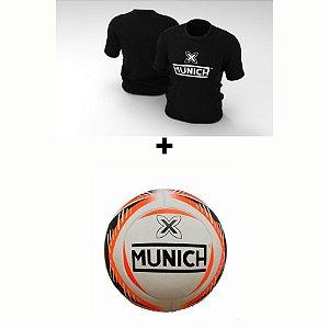 Kit Camiseta Munich  + Bola Munich - Preto