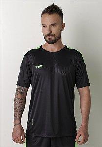 Camisa Topper Dominator Masculina - Preto e Amarelo