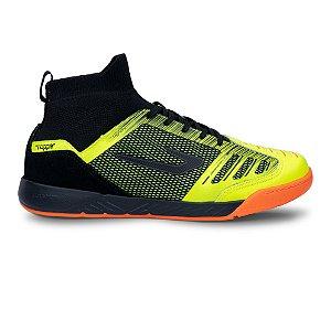Tenis de Futsal Topper Dominator Knit Pro II -  Amarelo Neon