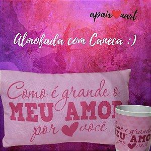Almofada Presente Dia Dos Namorados Com Caneca Grátis :)