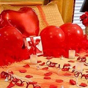 Kit Decoração Romântica Namorados Surpresa Petalas Velas