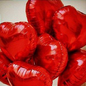 Balão Metálico Vermelho Coração 45cm