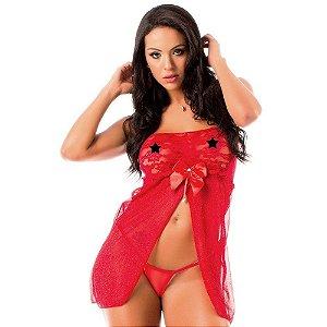 Camisola Sensual Sedução Pimenta Sexy Vermelha