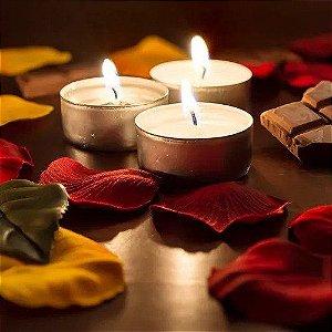 6 velas rechaud perfumadas com aroma de baunilha