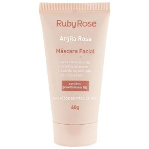 MÁSCARA FACIAL ARGILA ROSA RUBY ROSE