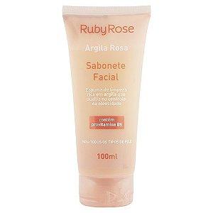SABONETE FACIAL ARGILA ROSA RUBY ROSE