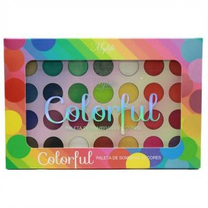 PALETA DE SOMBRAS 28 CORES COLORFUL MY LIFE