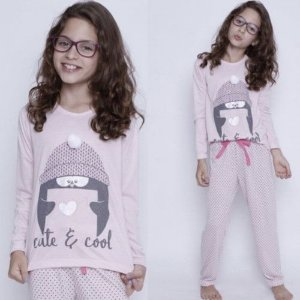 PIJAMA LONGO KIDS CUTE E COOL