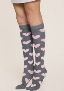 Meia 3/4 INVERNO PINK LOVE