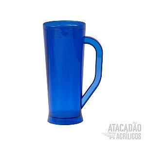 Caneca Long - Azul Escuro Translucido