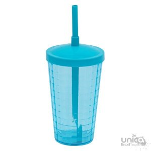 Twister Quadriculado 500ml - Azul Tifanny