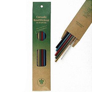 Kit Aquarela 5 canudos + Escova Higienizadora