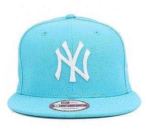 Boné New Soft NY - Azul Bebe Logo Branco