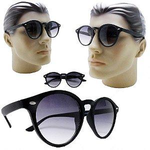 512daae54704f Oculos De Sol Redondo Retro Vintage Grande Lente Degrade
