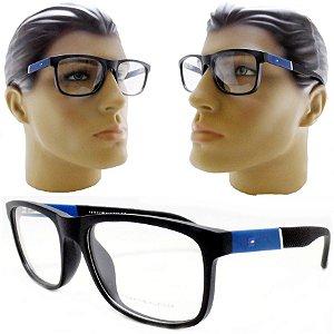 61c6d8ee752ad Armação Oculos Para Grau Masculino Quadrado Acetato Moderno 2018 2019