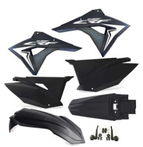 Kit Plástico Crf 230 Elite Biker 2008 - 2018 Preto