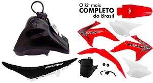 Kit Plastico Crf 230 2018 Protork Adaptável Xr 200 Tornado Vermelho