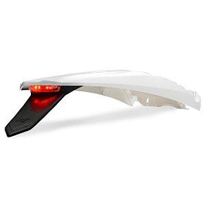 Paralama Traseiro + Porta Placa Led Amx Crf 250f 2019 Branco