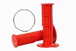 Manopla Pro Amx Flexível Top - Vermelho