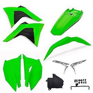 Kit Plástico Crf 230 Amx Premium 2008 - 2019 Verde