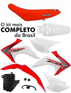 Kit Plástico Protork Crf 230 2015 - 2019  + Capa De Banco
