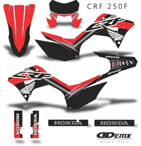 Kit Adesivo 3M Black Flying Crf 250F 2019 S/ Capa de banco