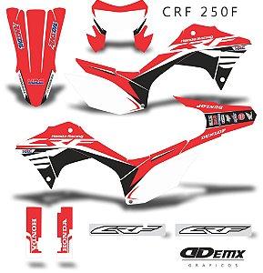 Kit Adesivo 3M Honda Wings Crf 250F 2019 S/ Capa de banco