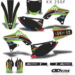 Kit Adesivo 3M Green Red Kxf 250 2009 - 2012