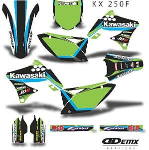 Kit Adesivo 3M Green BlUe Kxf 250 2009 - 2012