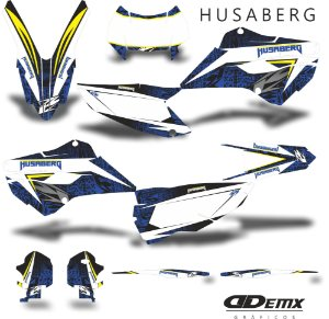 Kit Adesivo 3M gradient Husaberg S/ Capa de banco