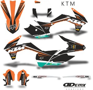 Kit Adesivo 3M ktm line S/ Capa de banco