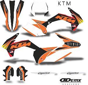 Kit Adesivo 3M ktm usa S/ Capa de banco