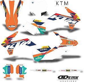 Kit Adesivo 3M ktm grey S/ Capa de banco