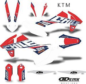 Kit Adesivo 3M ktm chile factory S/ Capa de banco